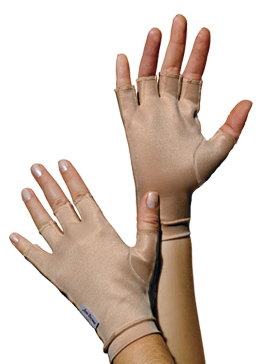 Luva de compressão meio dedos, curta